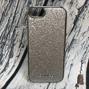 NWT Silver Glitter Inlay iPhone 5 Phone Case